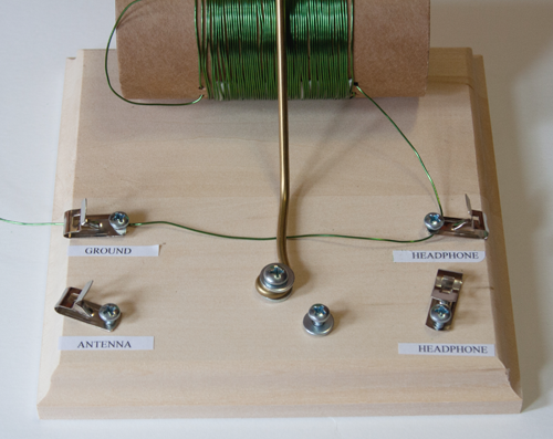 Figure 10: crystal radio ground wire