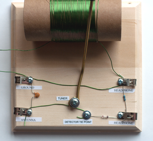 Figure 12: crystal radio complete circuit