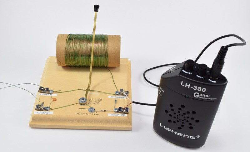 completed crystal radio