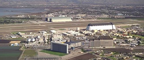 View of NASA AMES from the air.