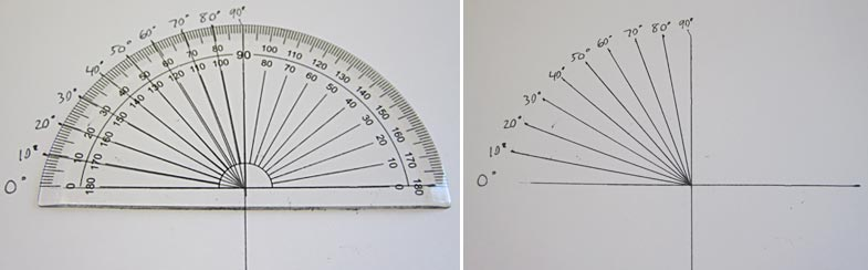 angle guide with protractor