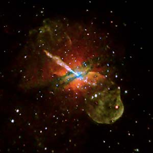 Colored image of the galaxy Centaurus A