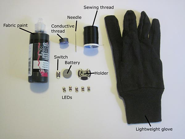 LED dance glove materials