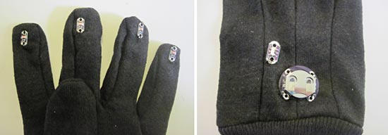 sewing LEDs- battery to an LED dance glove