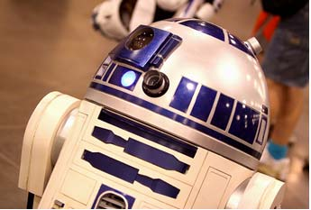 Photo of R2-D2, a droid from the movie Star Wars