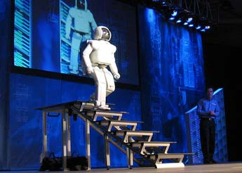 Honda ASIMO walking down stairs