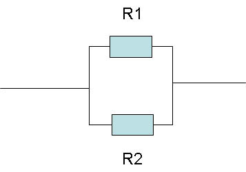 Two resistors in a parallel connection