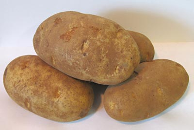 A small pile of potatoes