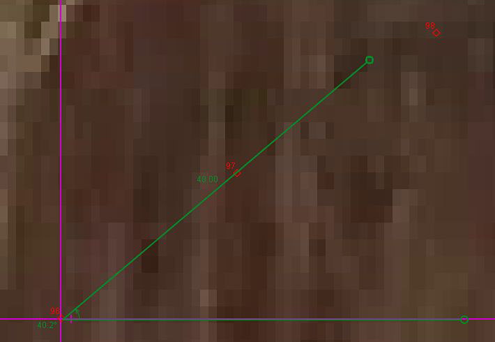 A graph is created in the Tracker tool to draw a launch angle using markers used to track a balls trajectory