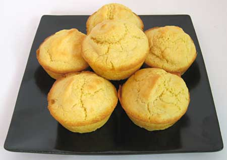 A plate of corn muffins