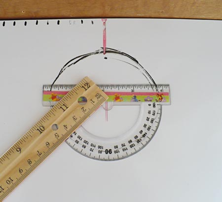 How to use the protractor to measure the player's position