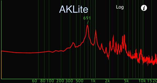 Theremin spectrum on AKLite app.