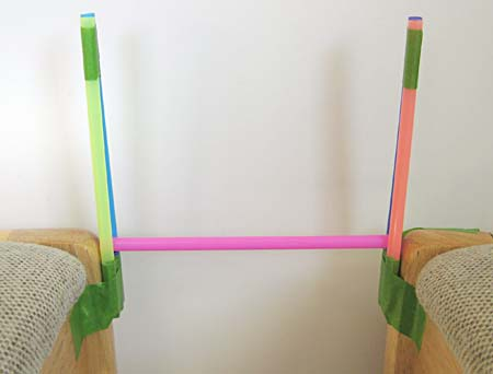 Simple beam bridge made from straws.