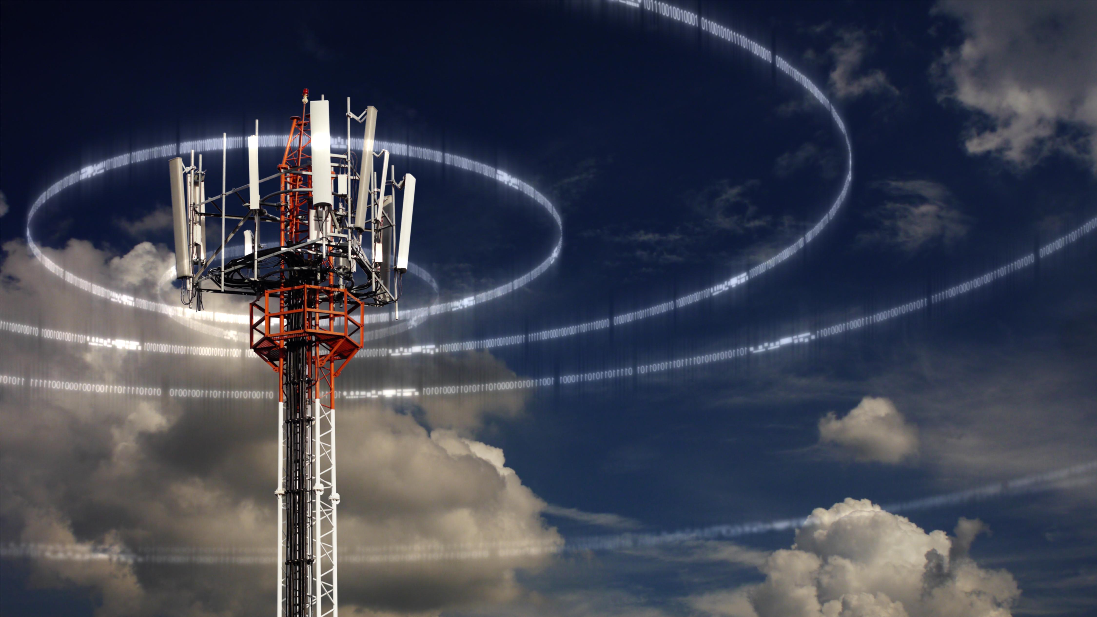 Pylon plus cell tower