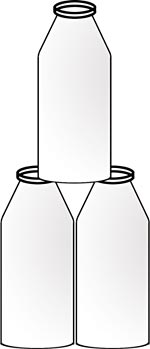 Diagram showing a pyramid of milk bottles.