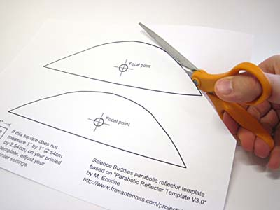 cutting out parabolic template