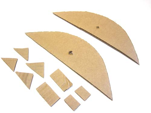 cardboard spacers for parabolic reflector