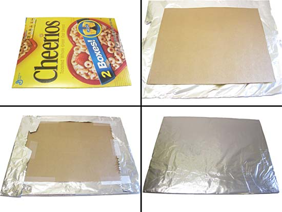 adding aluminum foil to parabolic reflector