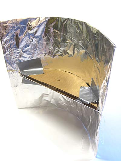 completed parabolic reflector