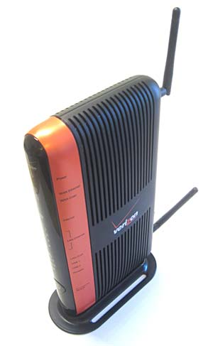 a wireless router with two antennas