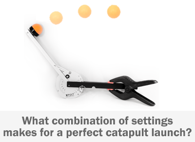 ping pong ball being launched from a catapult