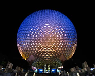 A picture of Spaceship Earth at EPCOT in Walt Disney World