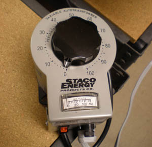 A variable AC adapter with a dial