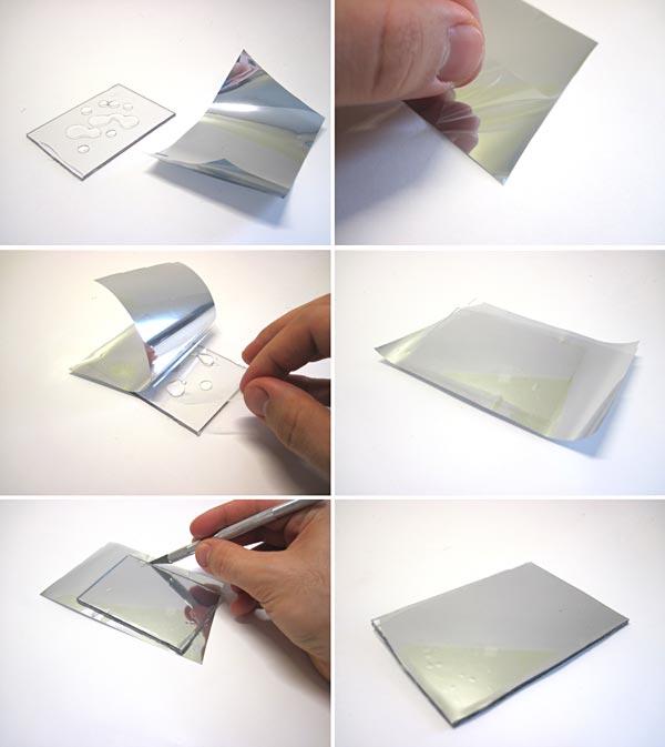 applying mirror tint to plexiglass