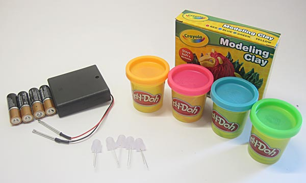 Materials for science activity squishy circuits play-dough