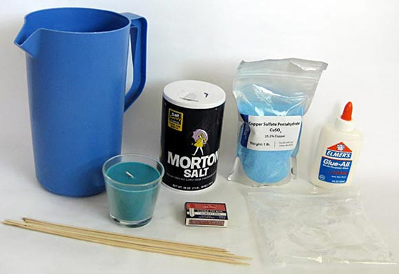 Materials for doing flame tests to see which metal salts produce which flame colors for fireworks.