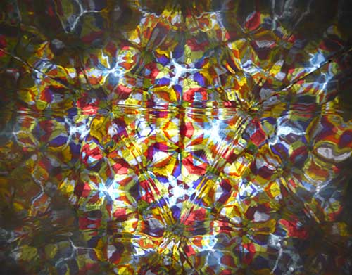 View from the inside of a kaleidoscope
