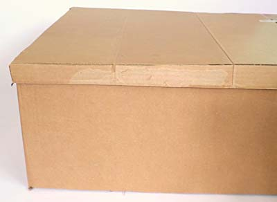 Lid on cardboard box