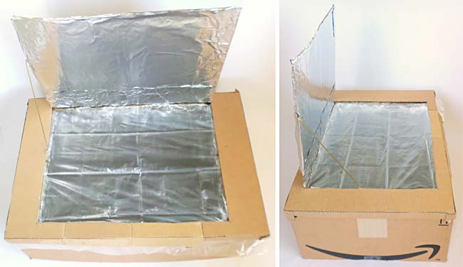 Completed box-type solar oven.