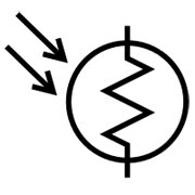 photoresistor breadboard symbol