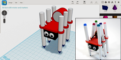 Artbot robotics project with Autodesk 3D design