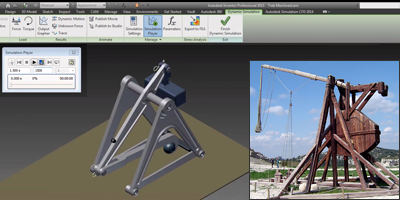 Trebuchet science project with Autodesk software integration