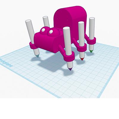 Art Bot designed in Tinkercad