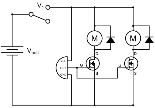 circuit diagram for motion activated robot