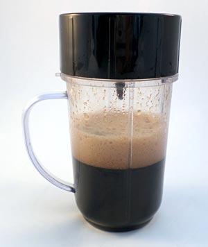 Coke (Coca-Cola) blended in a blender.