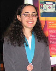 Photo of Janelle Schlossberger a former finalist in a Siemens competition