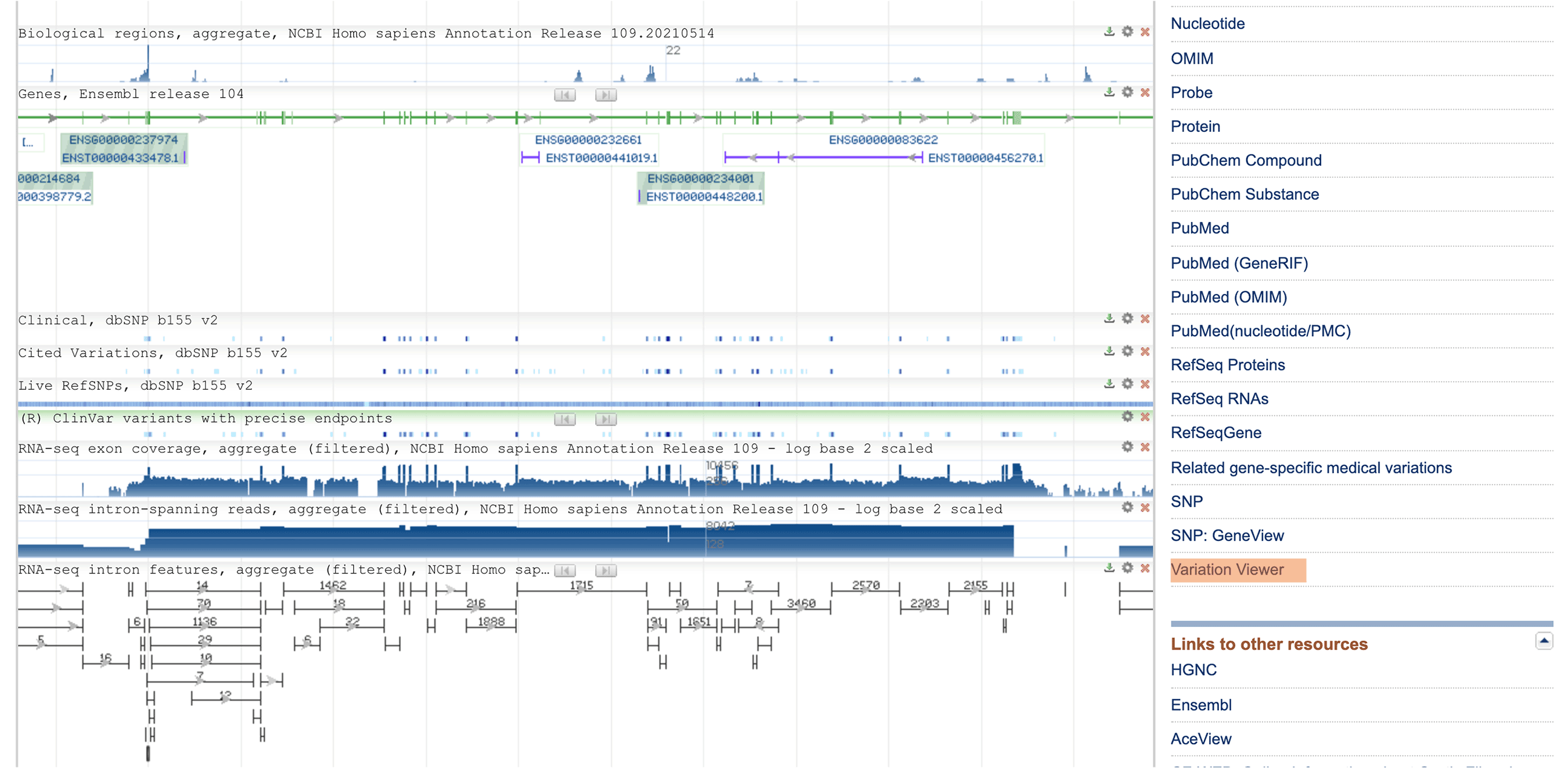 Screenshot of the gene page for CFTR on the OMIM website, showing where the GeneView link is.