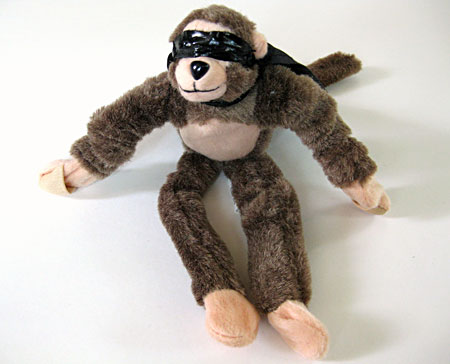 Stuffed toy monkey