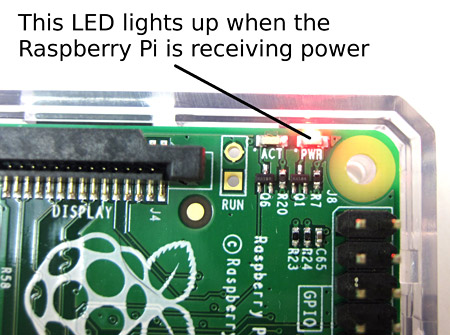 raspberry pi power LED
