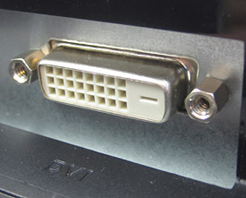 Photo of a DVI port