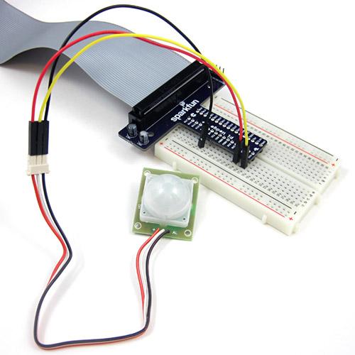raspberry PIR circuit