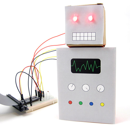 raspberry pi robot head on