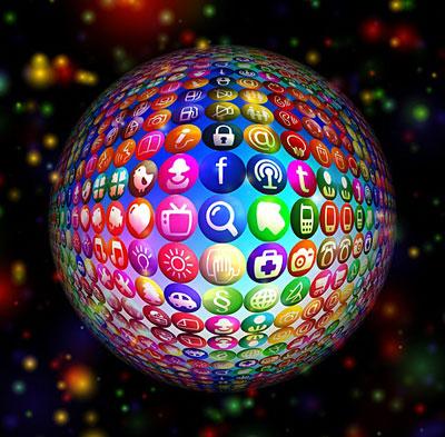 Social media ball image