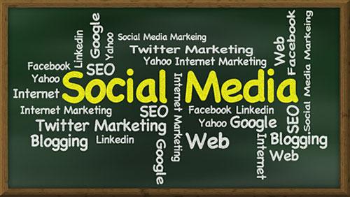 Word cloud for social media marketing