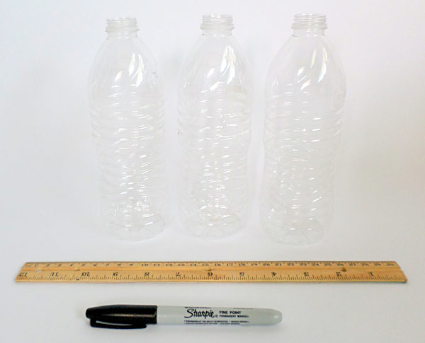 Materials for doing the musical bottles activity.