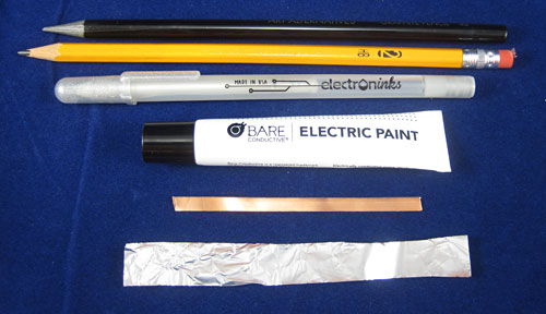 Conductors used in paper circuits